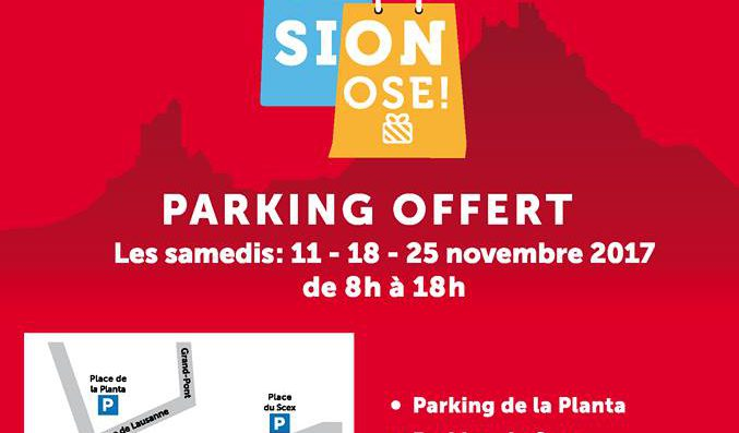 Free parking in Sion on two Saturdays in November